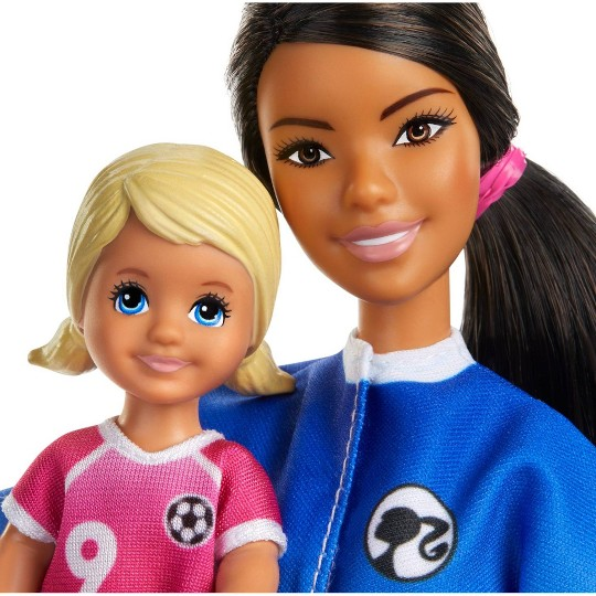 Barbie You Can Be Anything Soccer Coach Brunette Doll Playset image number null