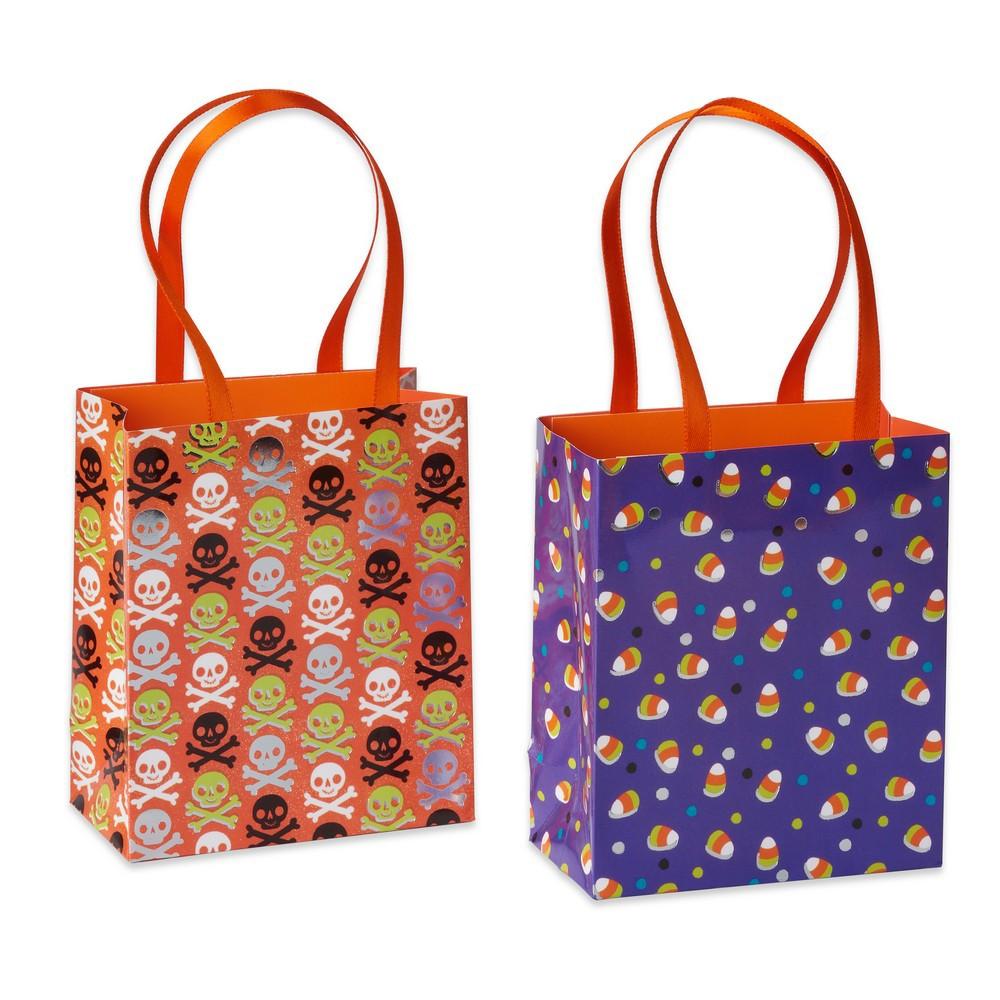 6ct Candy Corn & Skulls Halloween Treat Bags - Papyrus, M...