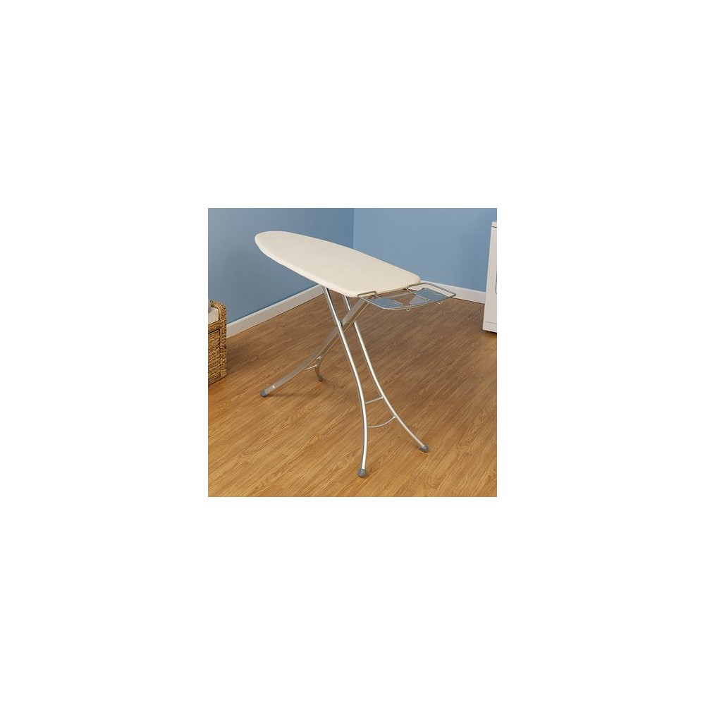 Household Essentials Extra-Wide Lightweight Ironing Board, Silver/Natural