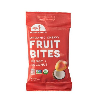 Dried Organic Mango and Coconut Fruit Bites - 2.56oz/2ct - Mavuno Harvest