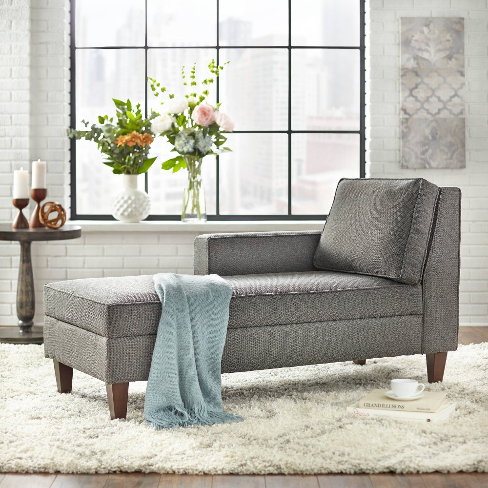 Ginger Storage Chaise Gray - Buylateral