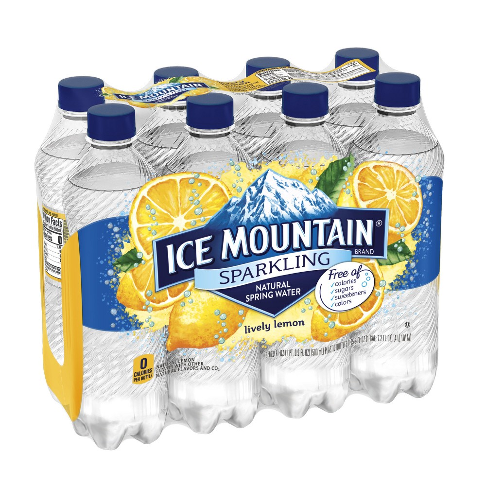 17205786f3 083046446063. Ice Mountain Lemon Mineral Water - 8pk/16.9 fl oz Bottles.  EAN-13 Barcode of UPC 083046446087. 083046446087. Ice Mountain Sparkling  Natural ...