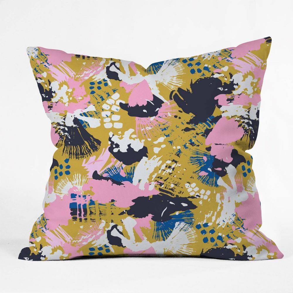 16 34 X16 34 Marta Barragan Camarasa Abstract Brushstrokes 02 Throw Pillow Deny Designs