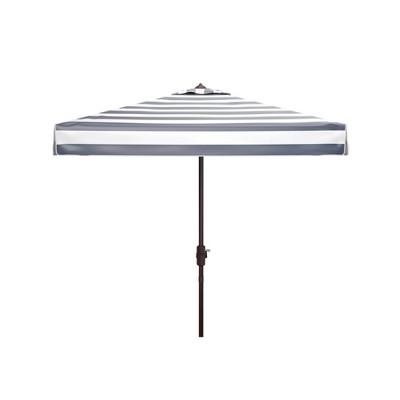 7.5' Square Elsa Fashion Line Umbrella Navy/White - Safavieh