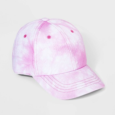 Girls' Tie-Dye Baseball Hat - Cat & Jack™ Pink