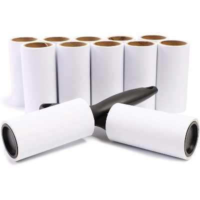 Juvale 12 Pack Lint Rollers with Refills for Pet Hair (696 Sheets)
