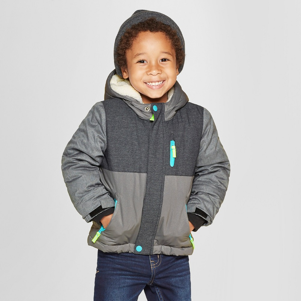 Toddler Boys' Space Ski Parka - Cat & Jack Gray 4T