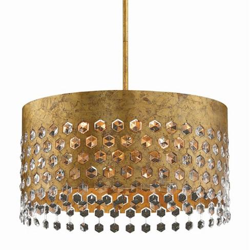 """Metropolitan N7656 Kingsmont 6 Light 18"""" Wide Crystal Drum Chandelier - image 1 of 2"""