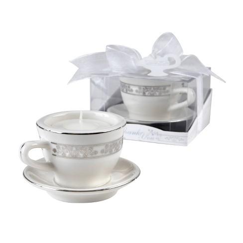 12ct Teacups and Tealights Miniature Porcelain Tealight Holders - image 1 of 4