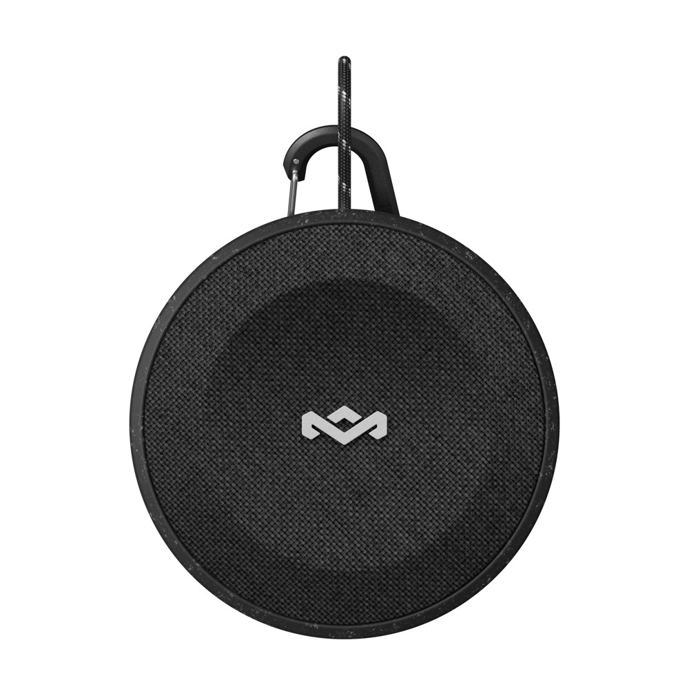 Marley No Bounds Waterproof Speaker - Black (EM-JA015-SB) No Bounds speaker from Marley features 10 hours of playtime and is waterproof and dust-proof. Speaker features Wireless Dual Speaker pairing, speakerphone carabiner clip and is constructed from recyclable aluminum. Color: Black.