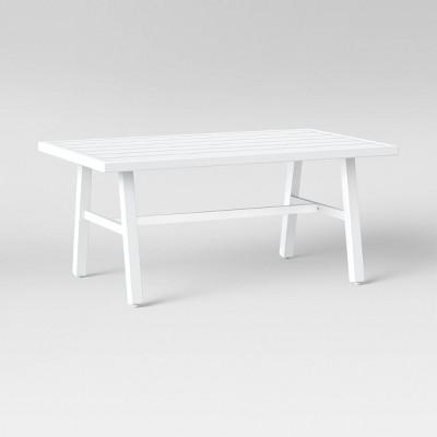 Hillsville Patio Coffee Table - White - Threshold™