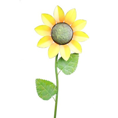 "63""x16"" Spring Festive Blooming Metal Sunflower Garden Stake - Alpine Corporation"