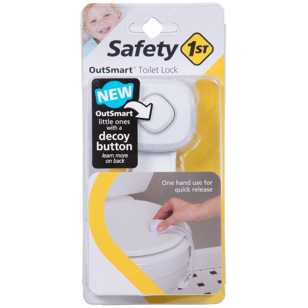 Image of Safety 1st - Outsmart Toilet Lock, White