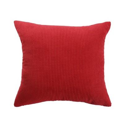 1 Pc Polyester & Velvet Striped Decorative Pillow Cover - PiccoCasa