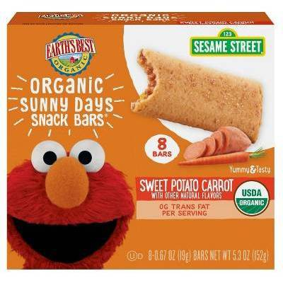 Earth's Best Organic Sweet Potato Carrot Sunny Days Snack Bars - 8ct/0.67oz Each