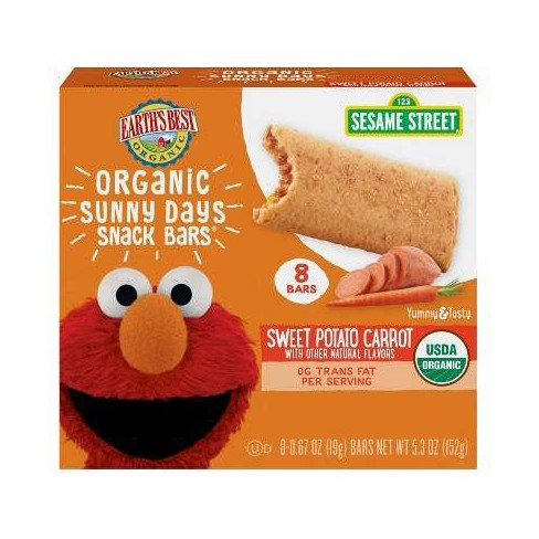 Earth's Best Organic Sweet Potato Carrot Sunny Days Snack Bars - 8ct/0.67oz Each - image 1 of 3
