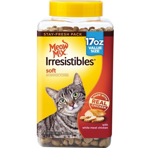 Meow Mix Irresistibles Soft with Chicken Cat Treats 17oz - image 1 of 5