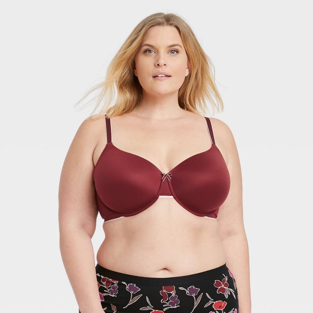 Women 39 S Plus Size Lightly Lined Demi Bra Auden 8482 Berry 48ddd