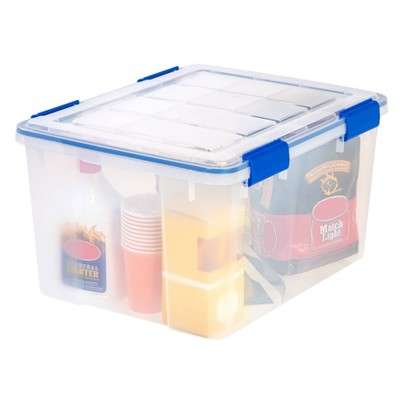 IRIS 44qt 4pk Weather Tight Storage Box Clear