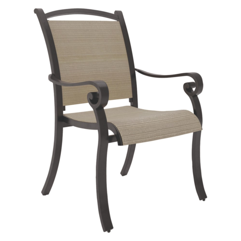 Image of Bass Lake Sling Chair with 4 Cushion - Beige/Brown - Outdoor by Ashley