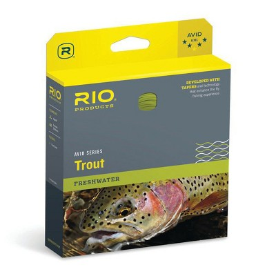 RIO Products WF5F Avid Trout Series Casting Line for Fly Fishing with Tapers, Memory Free Core, Slick coating, and Welded Loop, Pale Yellow