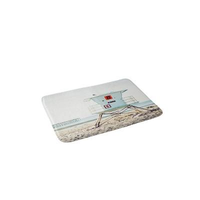 Bree Madden Ventura Beach Memory Foam Bath Mat Blue - Deny Designs