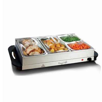 MegaChef Food Server & Warmer with Trays