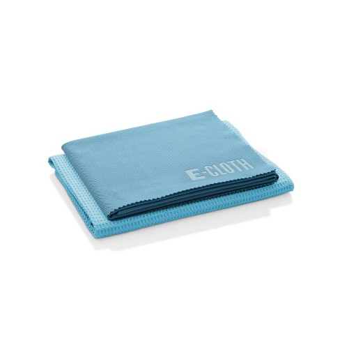 E-Cloth Window Cleaning Microfiber Cloth Set - Blue - 2pc - image 1 of 4
