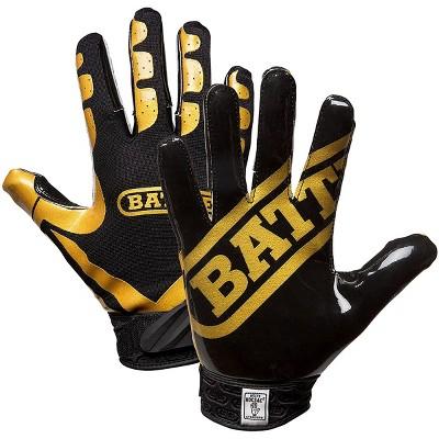 Battle Sports Science DoubleThreat UltraTack Football Gloves Blue//Blue