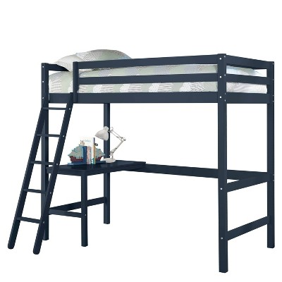 Twin Caspian Loft Bed Navy - Hillsdale Furniture