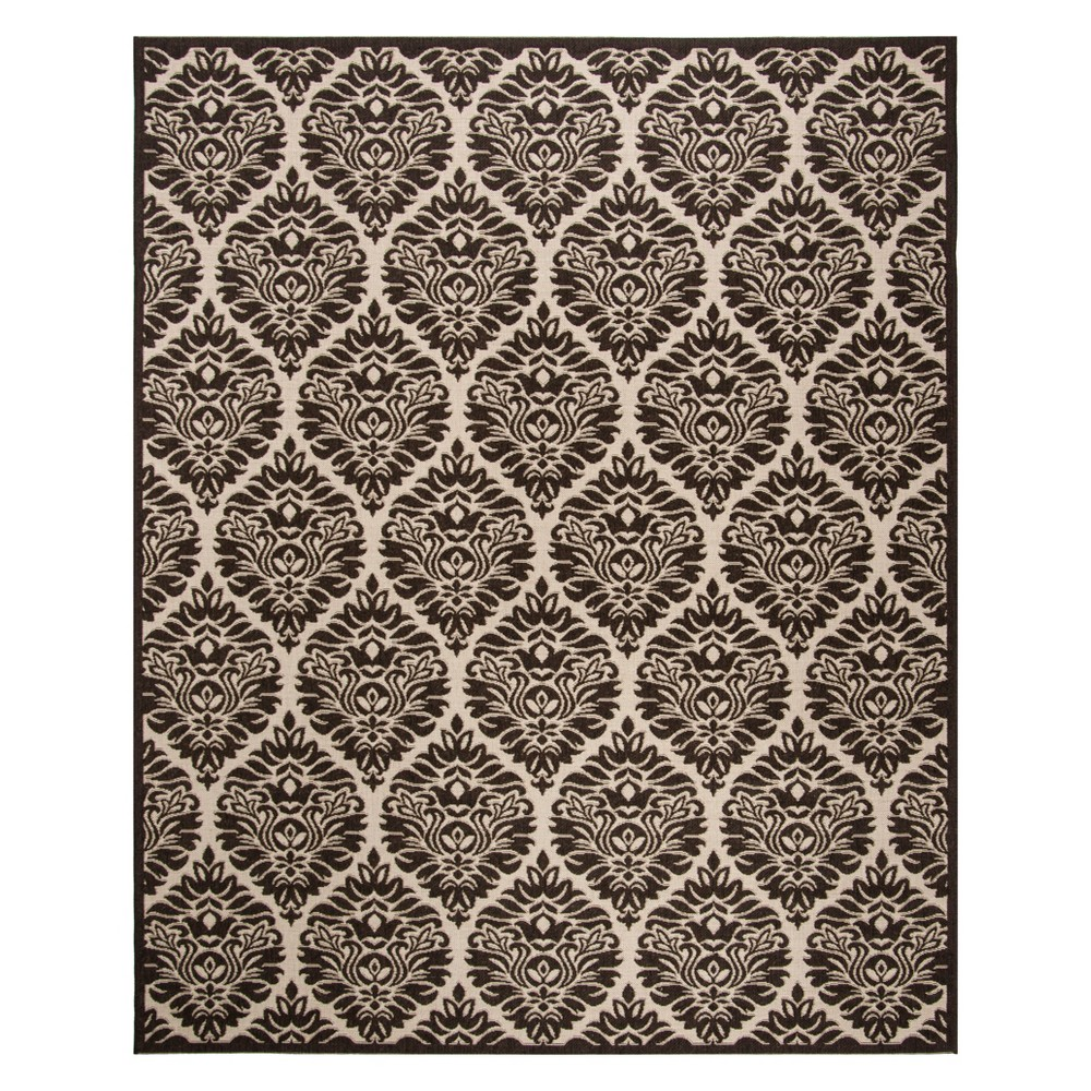 8'X10' Damask Loomed Area Rug Natural/Brown - Safavieh