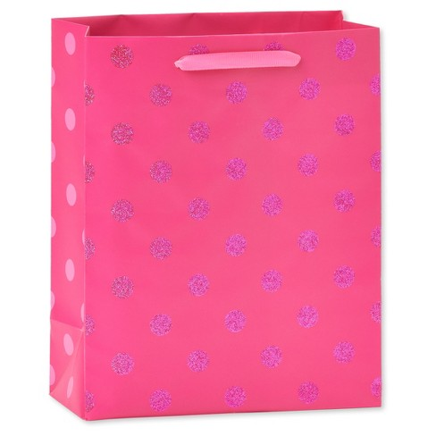 Gift Bag Birthday Pink with Dots - Spritz™ - image 1 of 2