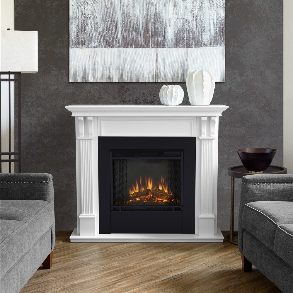 Real Flame - Ashley Electric Fireplace-White, White