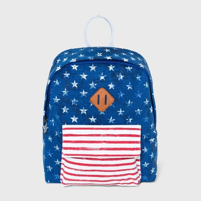 Mad Love Stars and Stripes Americana Mini Dome Backpack - Blue