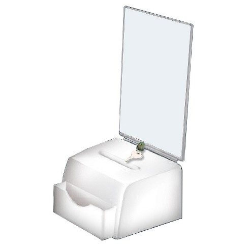 Azar Small Molded Suggestion Box with Lock White - image 1 of 1
