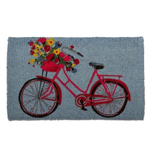 """TAG 1'6"""" x 2'6"""" Bike Rider Coir Doormat Indoor Outdoor All Weather Welcome Mat - image 1 of 4"""