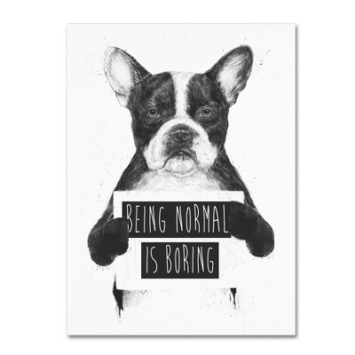'Being Normal Is Boring' by Balazs Solti Ready to Hang Canvas Wall Art
