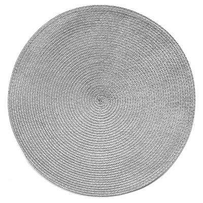 15 x15  Poly Round Placemat Gray - Room Essentials™