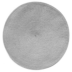 "15""x15"" Poly Round Placemat Gray - Room Essentials™"