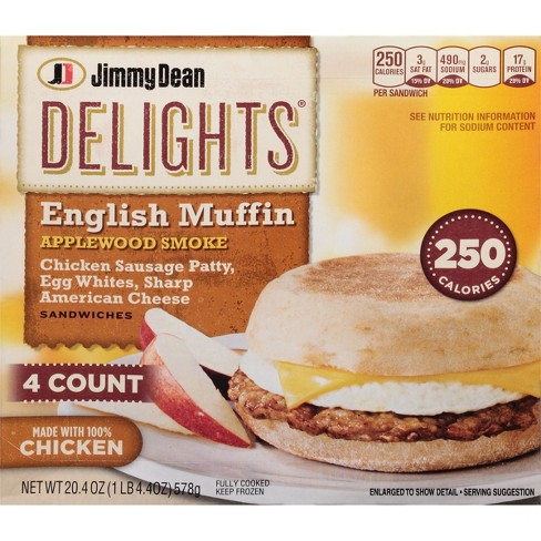 Jimmy Dean Delights Chicken Sausage Egg Whites Cheese Frozen