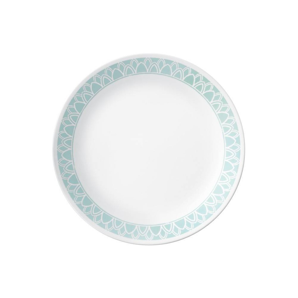 "Image of ""Corelle 10.3"""" Glass Delano Dinner Plate Teal, Blue"""