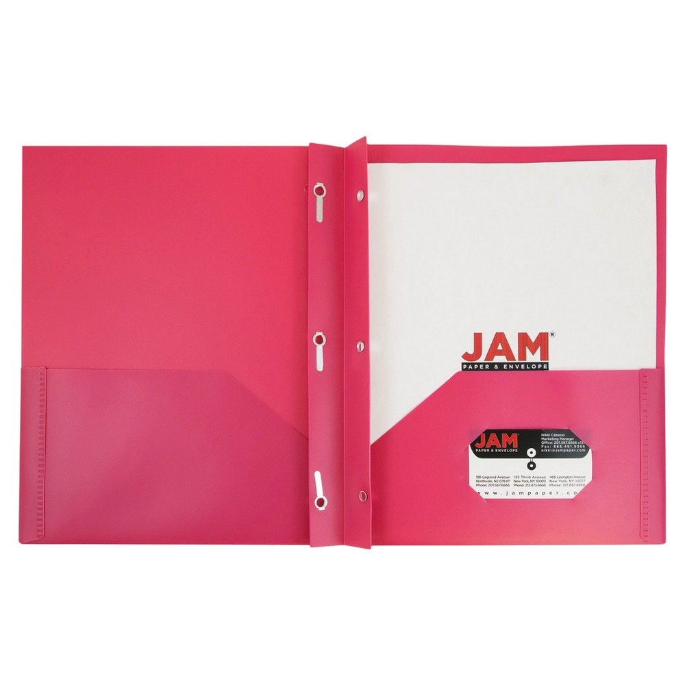 Jam Paper Eco Plastic Folder with Clasp 6pk - Pink