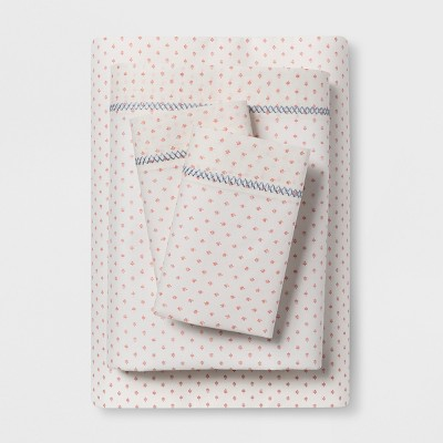 Cotton Percale Print Sheet Set (Queen)Coral - Opalhouse™