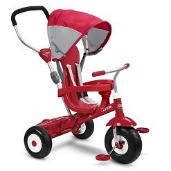 Radio Flyer Sport 4 in 1 All Terrain Kids Stroll 'N Trike Ride On Tricycle, Red