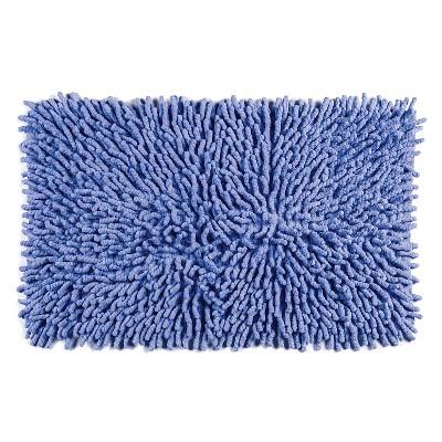 Chenille Basics Bath Rug Blue - Cassadecor