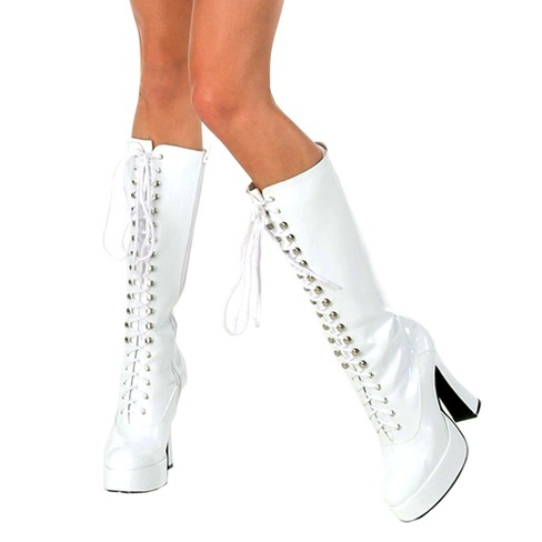 Adult Easy Costume Boots White - image 1 of 1