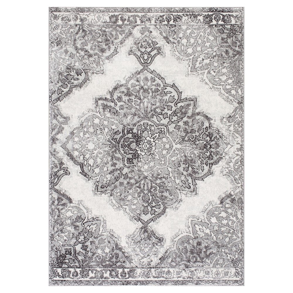 Sterling Gray Solid Loomed Area Rug - (8'x10') - nuLOOM, Blue