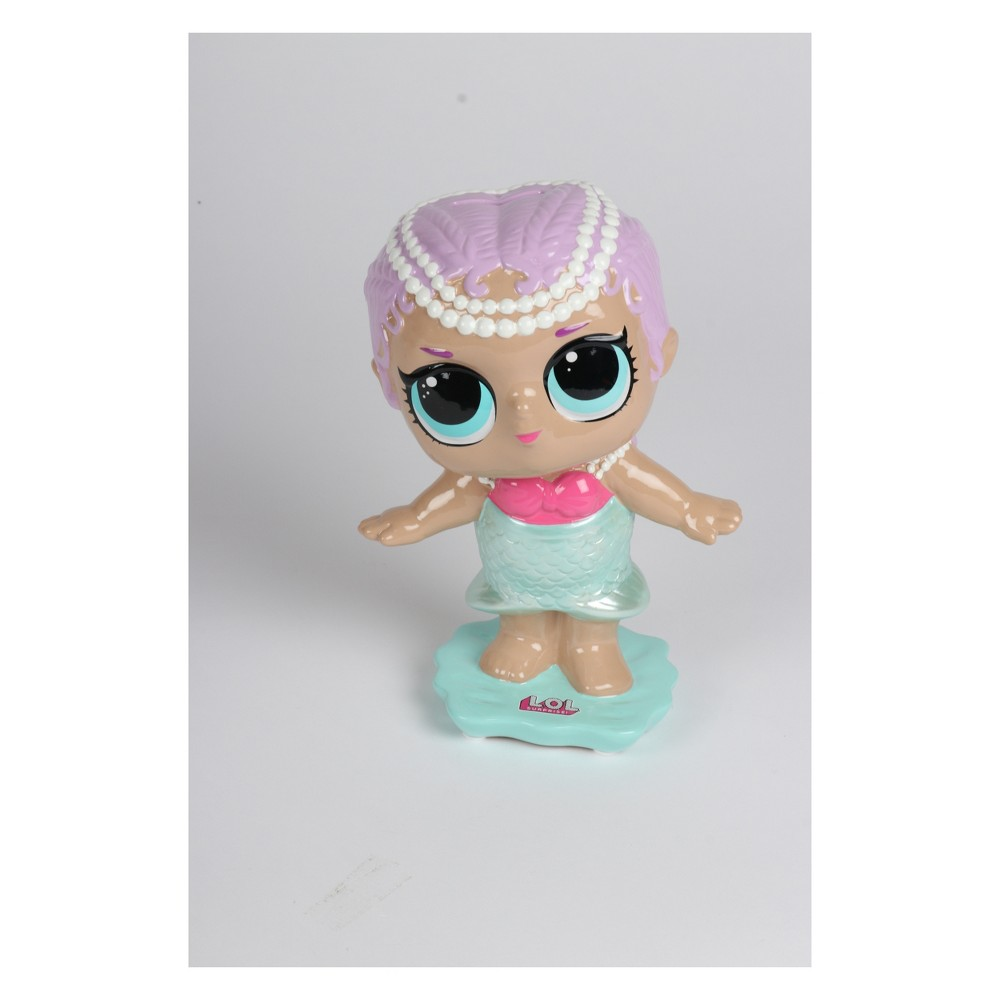 Image of L.O.L Surprise! Ceramic Mermaid Coin Bank Teal Blush