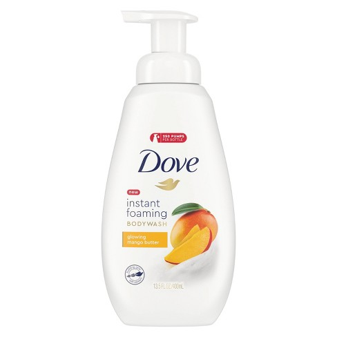 Dove Instant Foaming Glowing Mango Butter Body Wash Soap 13 5 Fl Oz Target
