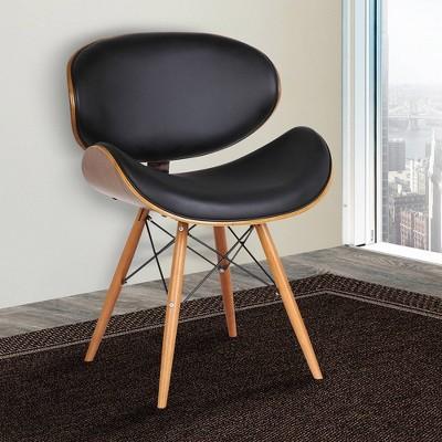 Cassie Dining Chairs Black/Walnut - Armen Living